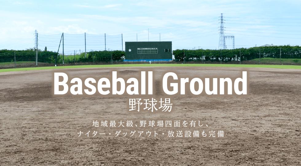 野球場|スポーツ合宿